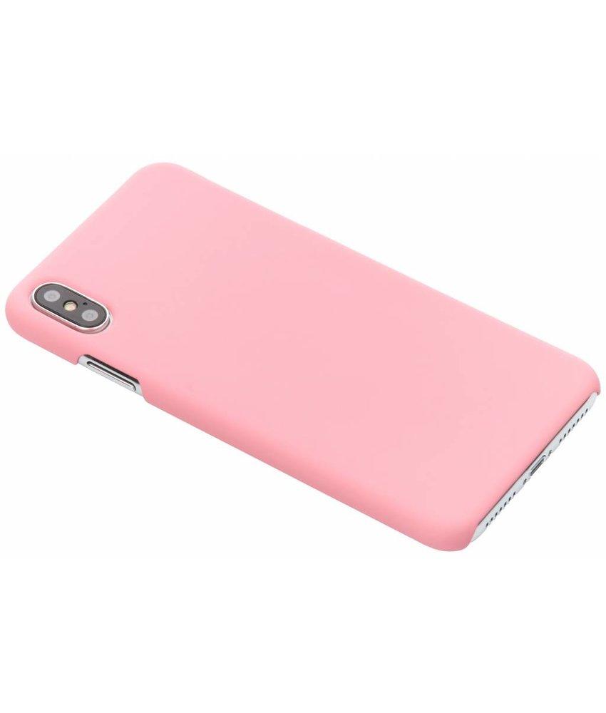 Roze effen hardcase hoesje iPhone Xs Max