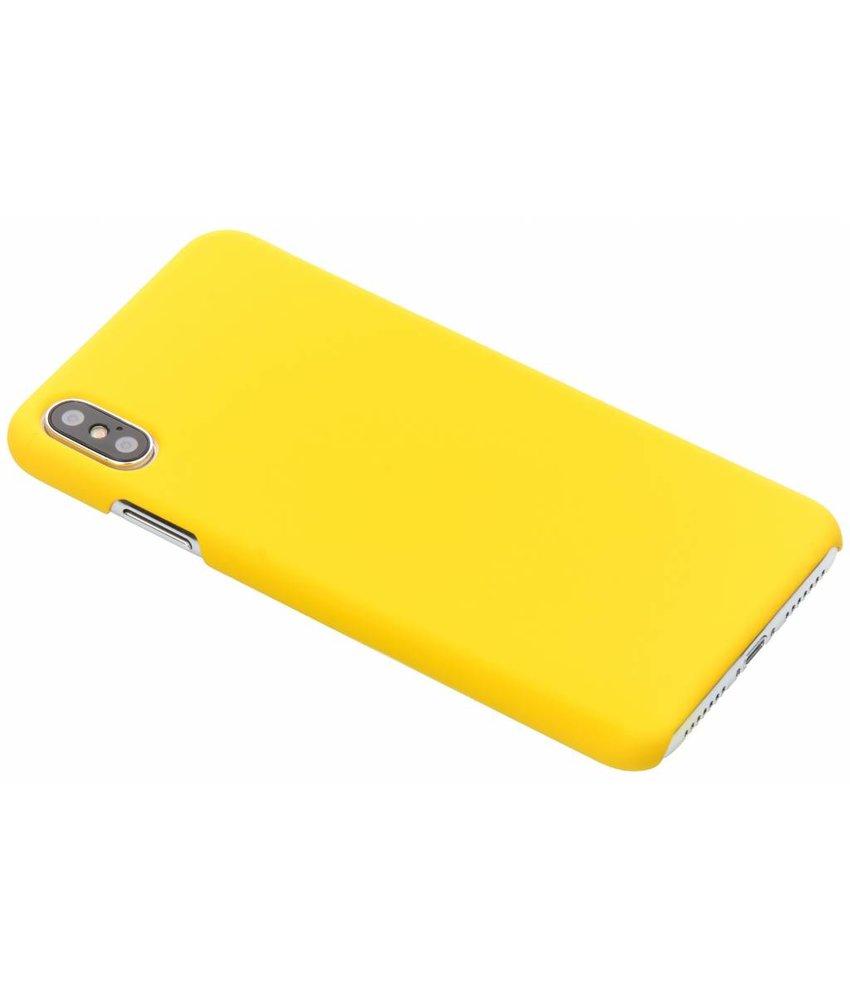 Geel effen hardcase hoesje iPhone Xs Max