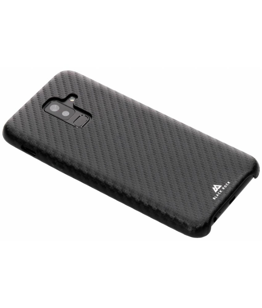 Black Rock Zwart Flex Carbon Case Samsung Galaxy A6 Plus (2018)