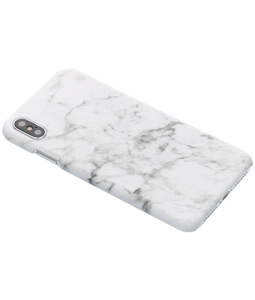 Wit marmer look hardcase hoesje iPhone Xs Max