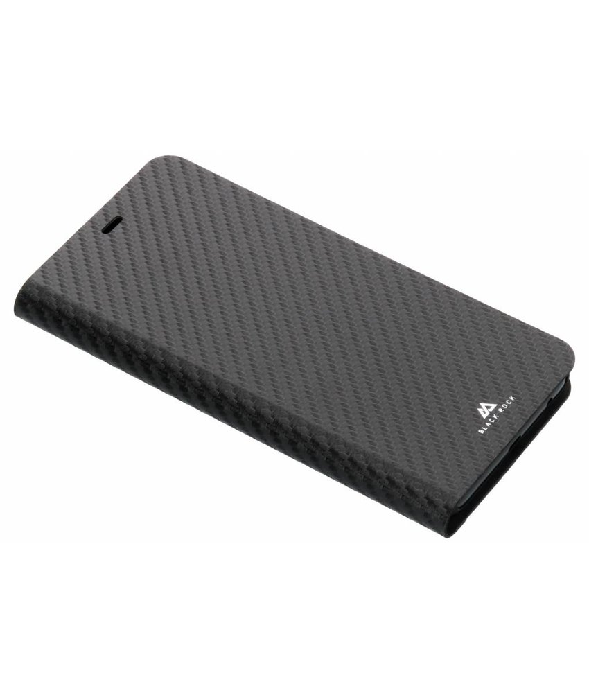 Black Rock Zwart Flex Carbon Booklet Case Samsung Galaxy A6 Plus (2018)