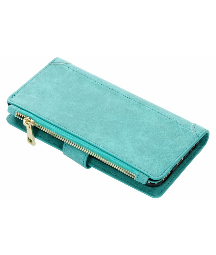Turquoise luxe portemonnee hoes Huawei Mate 10 Lite