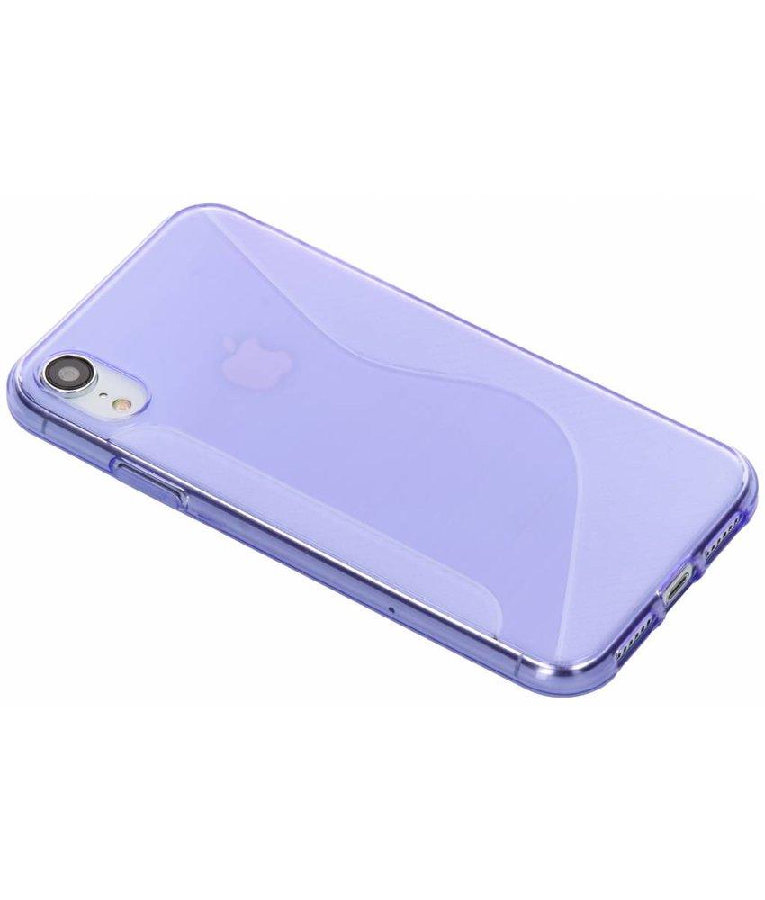 Paars S-line TPU hoesje iPhone Xr