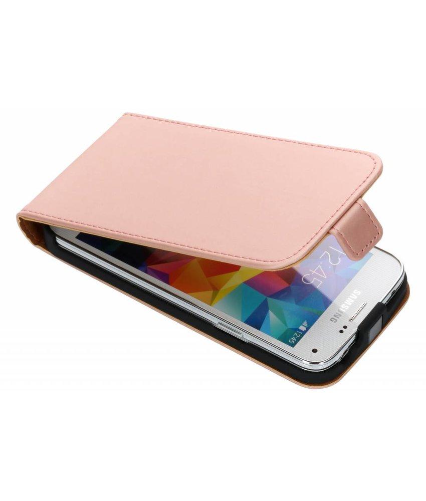 Selencia Rosé Goud Luxe Flipcase Samsung Galaxy S5 Mini