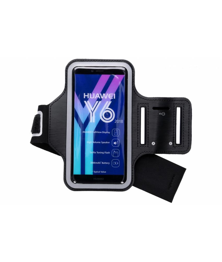 Zwart sportarmband Huawei Y6 (2018)