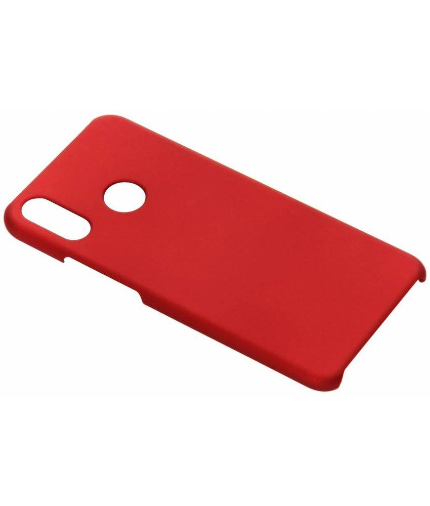 Rood effen hardcase hoesje Huawei P Smart Plus