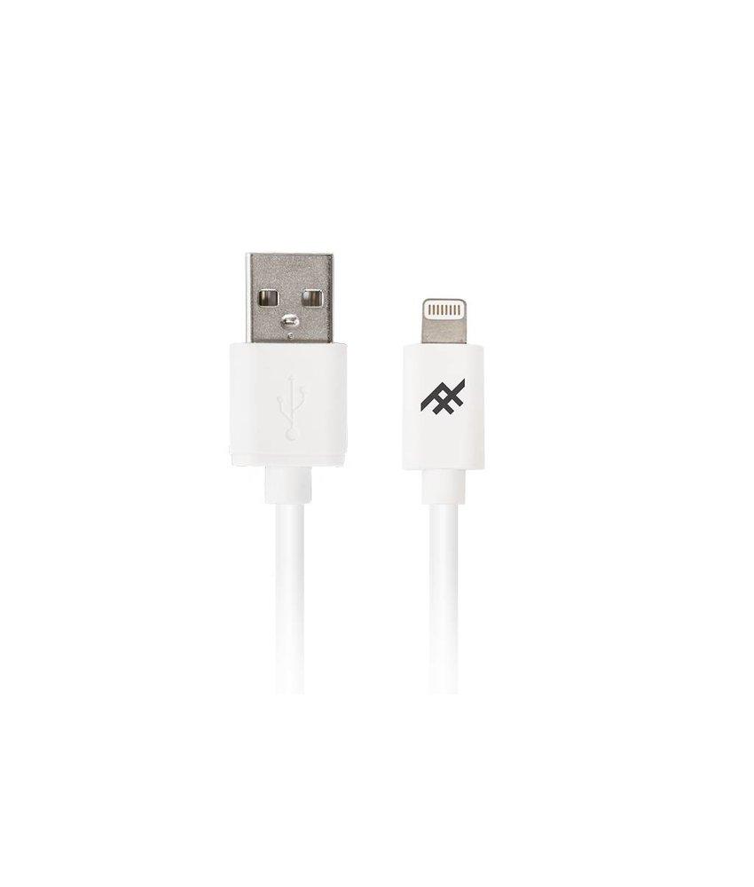 iFrogz Wit Unique Sync™ Lightning naar USB kabel - 3 meter