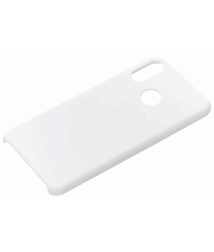 Wit effen hardcase hoesje Huawei P Smart Plus