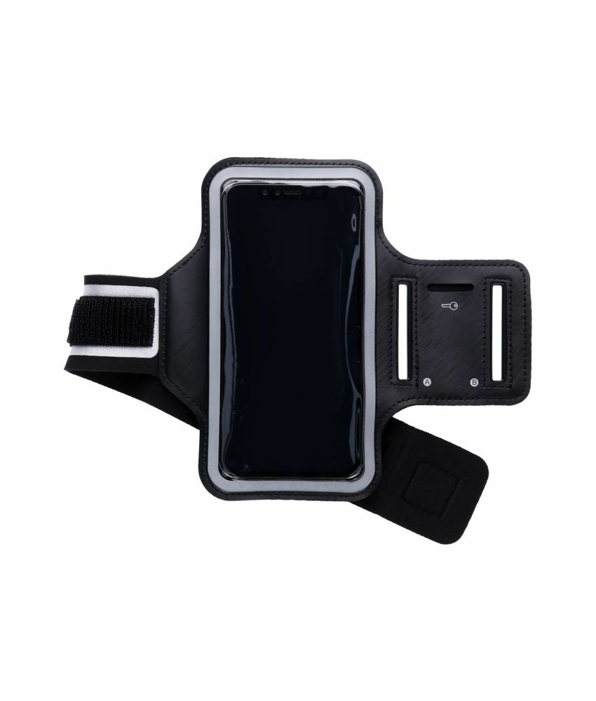 Zwart sportarmband iPhone Xr