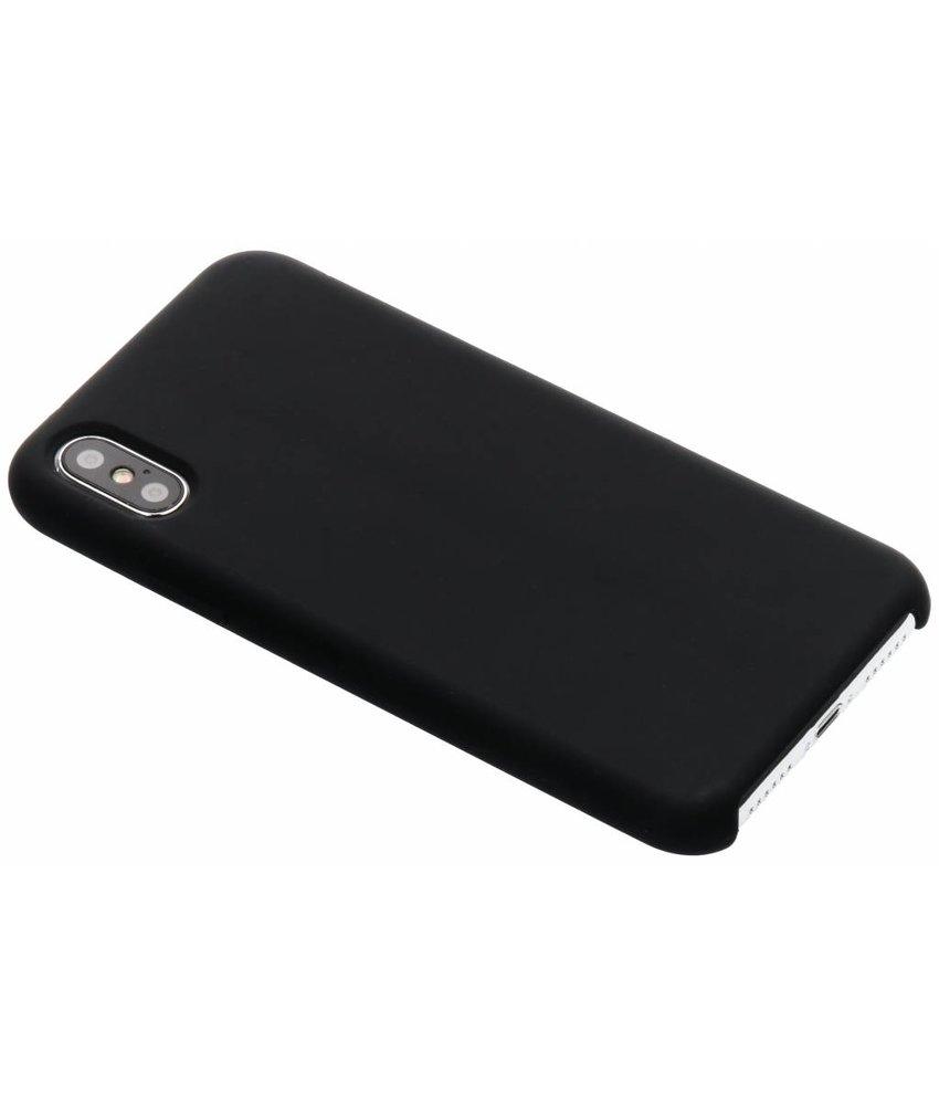 Zwart soft touch siliconen case iPhone Xs / X