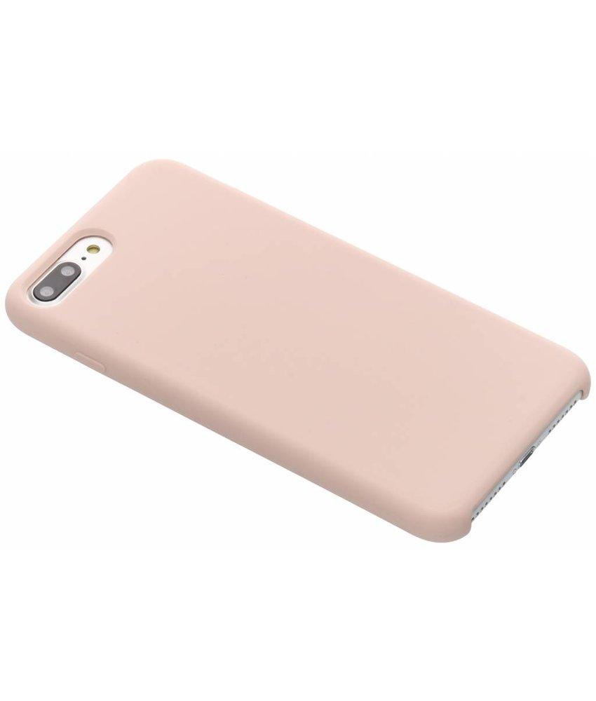 Roze soft touch siliconen case iPhone 8 Plus / 7 Plus