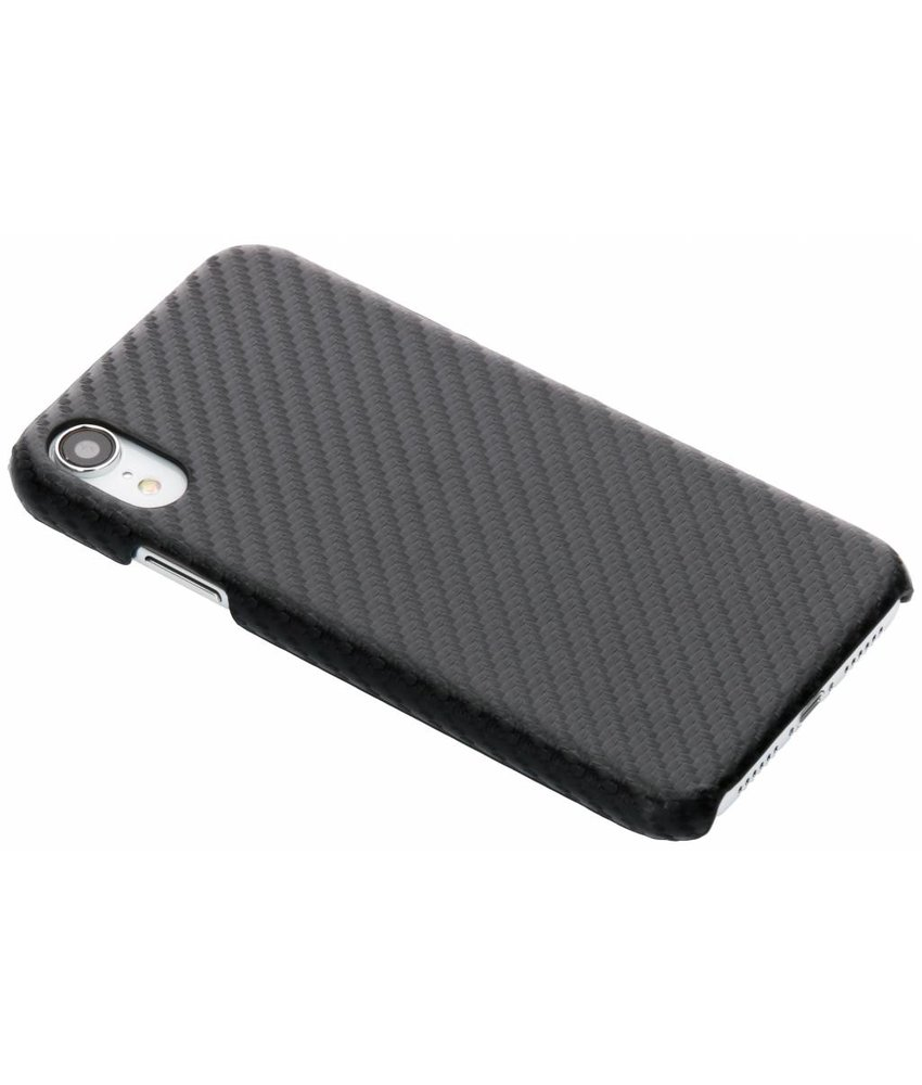 Zwart carbon look hardcase hoesje iPhone Xr