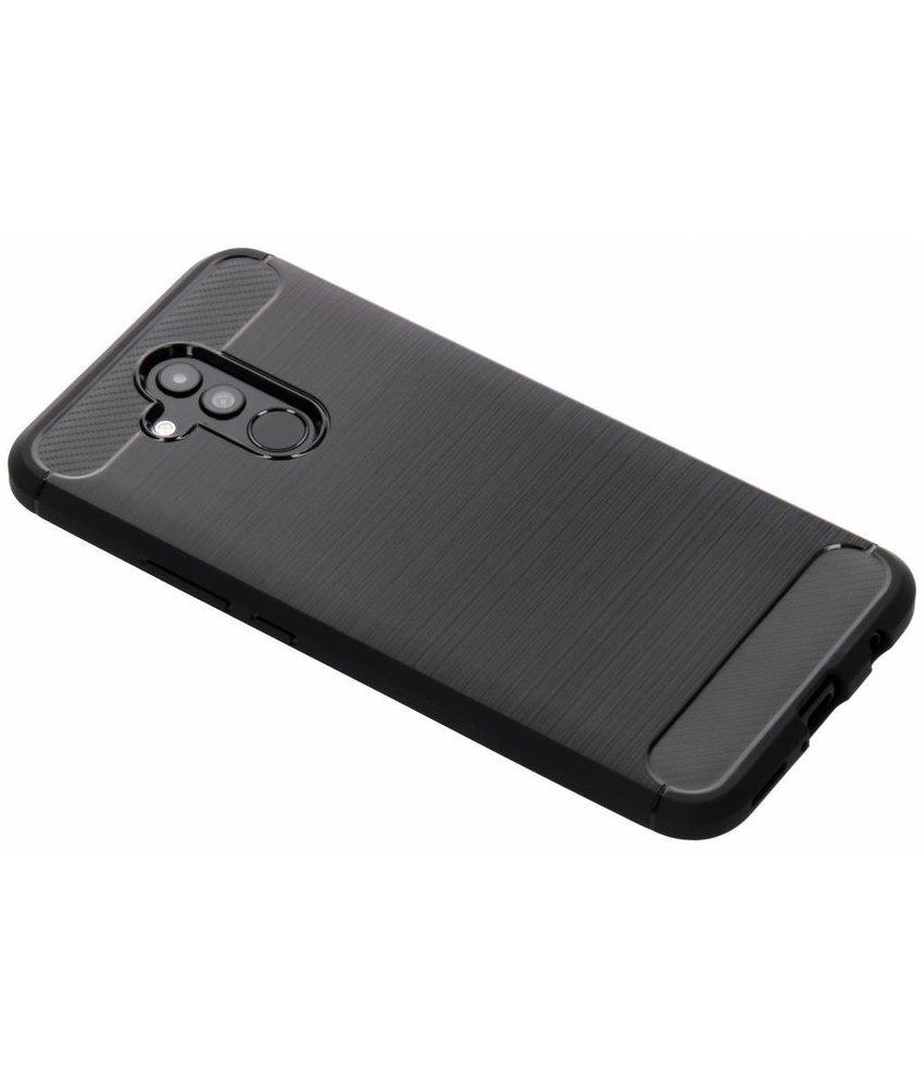 Zwart Brushed TPU case Huawei Mate 20 Lite