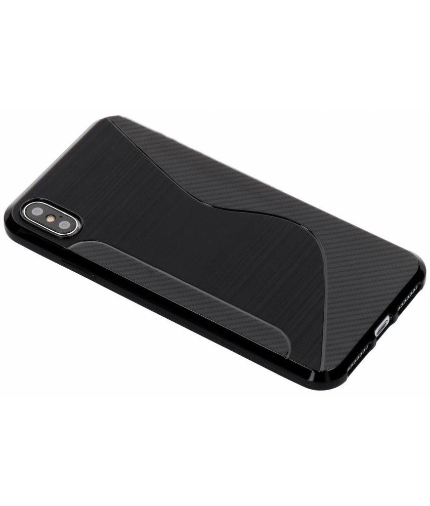 Zwart S-line TPU hoesje iPhone Xs Max
