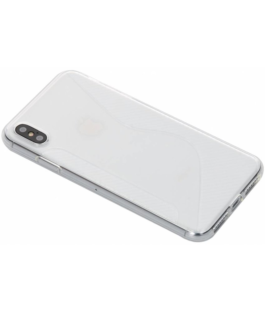 Transparant S-line TPU hoesje iPhone Xs Max