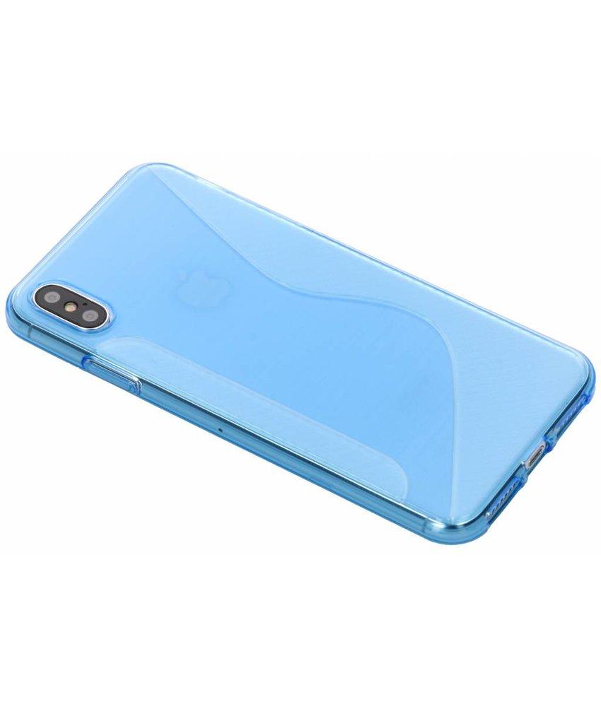 Blauw S-line TPU hoesje iPhone Xs Max