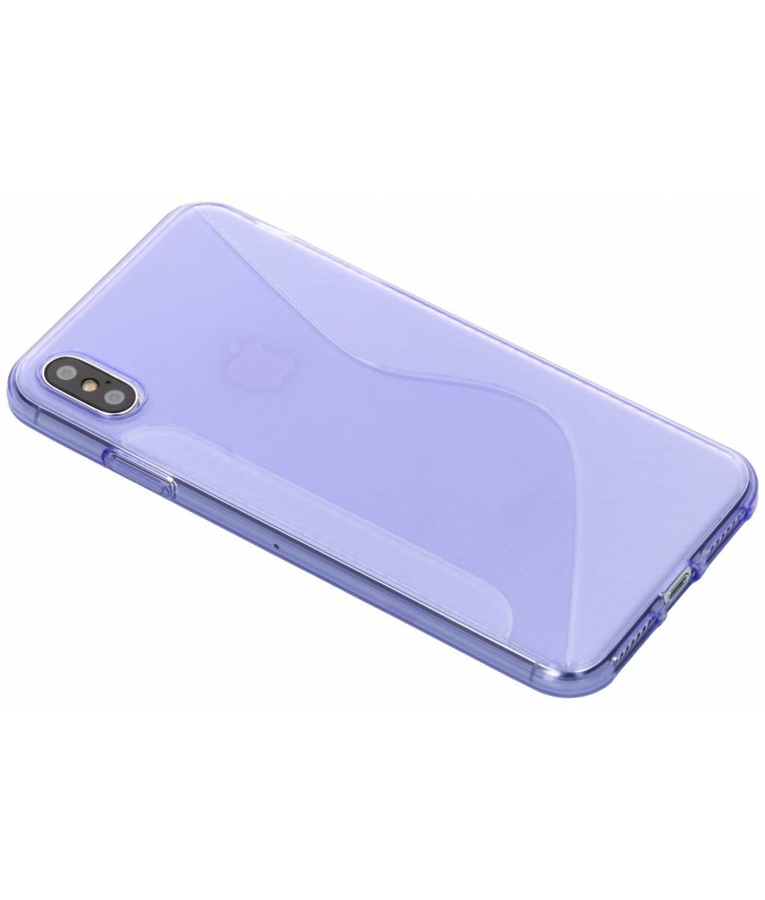 Paars S-line TPU hoesje iPhone Xs Max