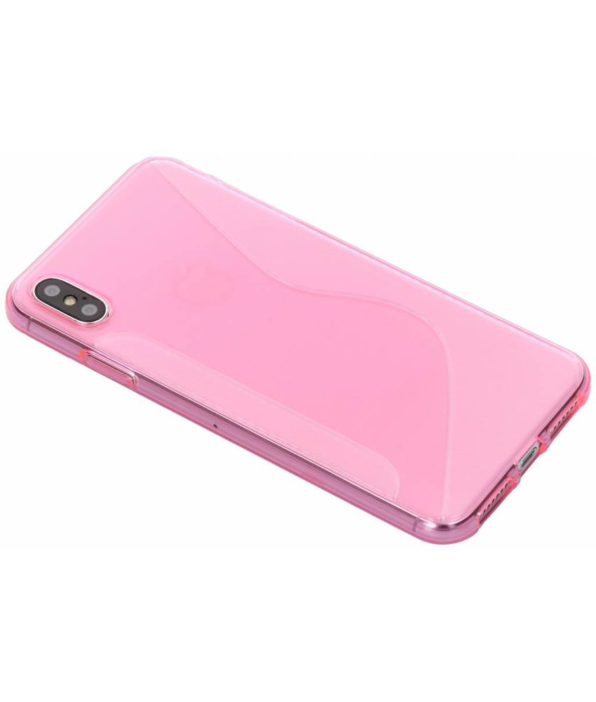 Roze S-line TPU hoesje iPhone Xs Max