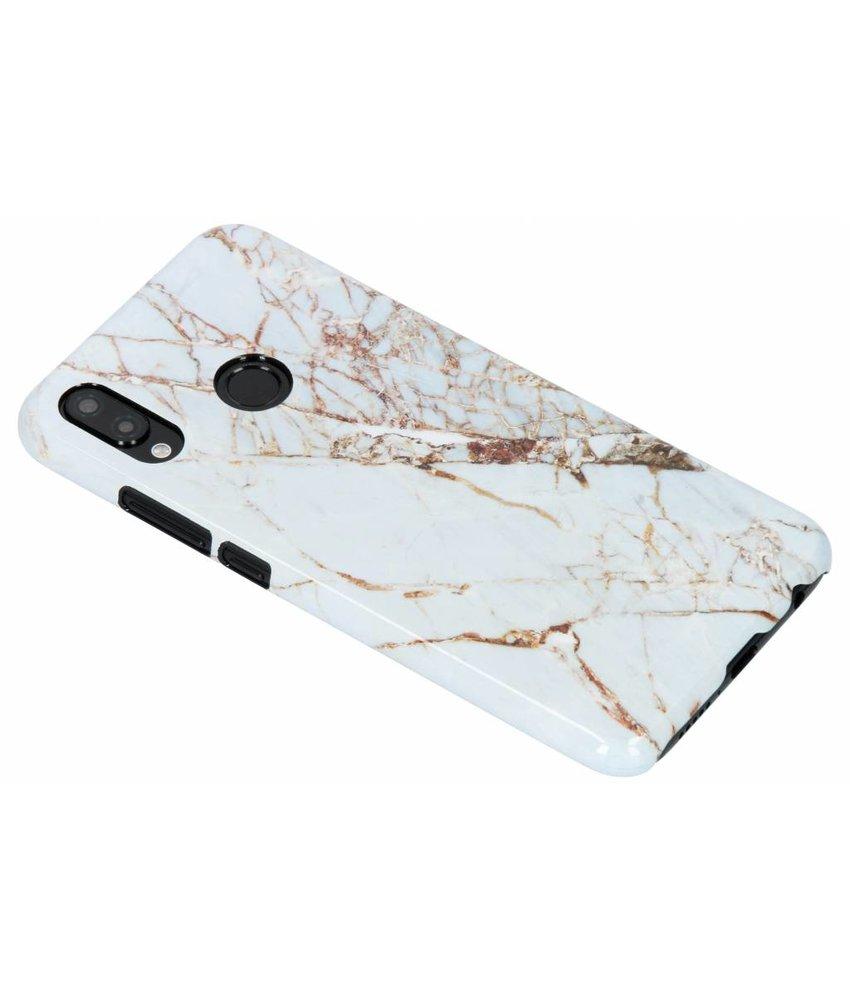 Selencia White Marble Passion Hard Case Huawei P20 Lite