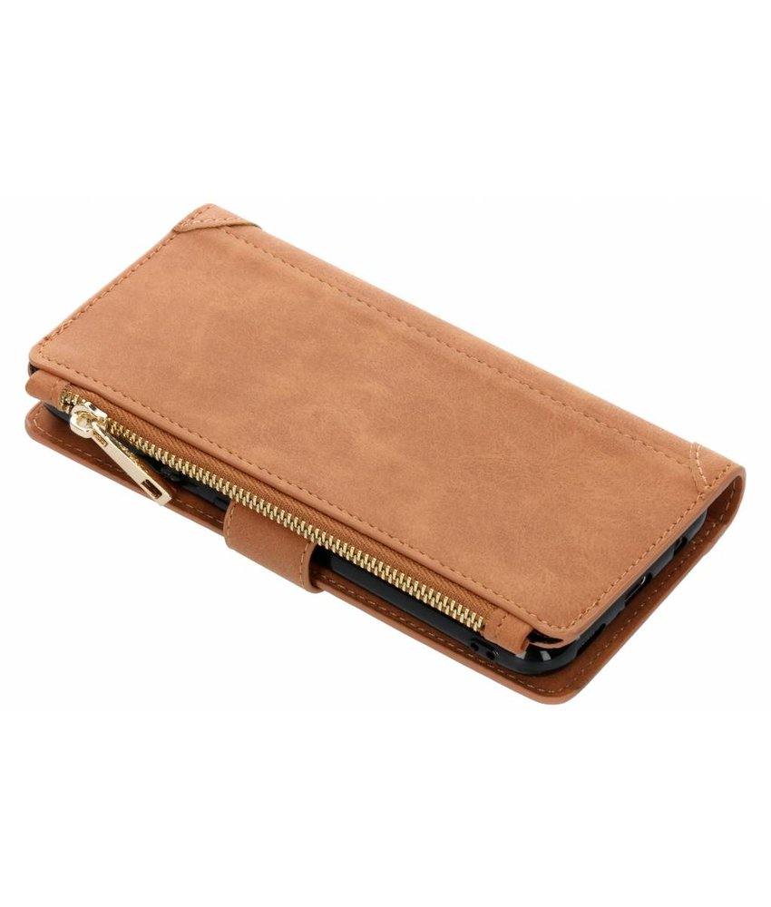 Bruin luxe portemonnee hoes Huawei Mate 20 Lite