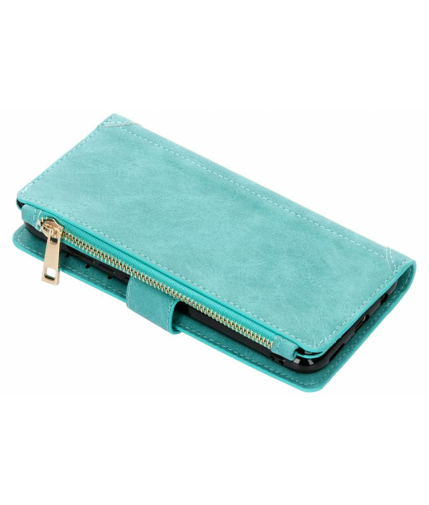 Turquoise luxe portemonnee hoes Huawei Mate 20 Lite