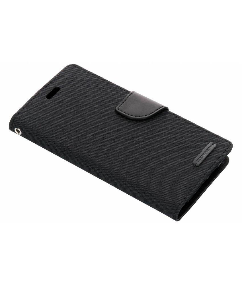 Mercury Goospery Zwart Canvas Diary Case Huawei P20 Pro