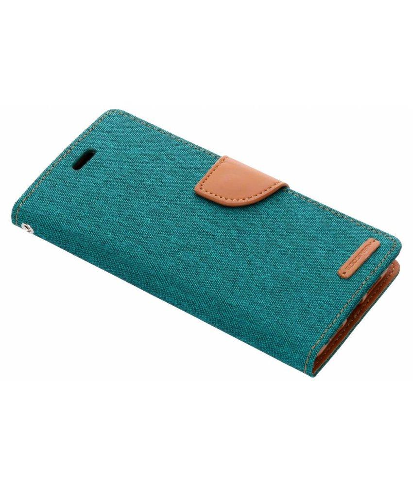 Mercury Goospery Groen Canvas Diary Case Huawei P20 Pro