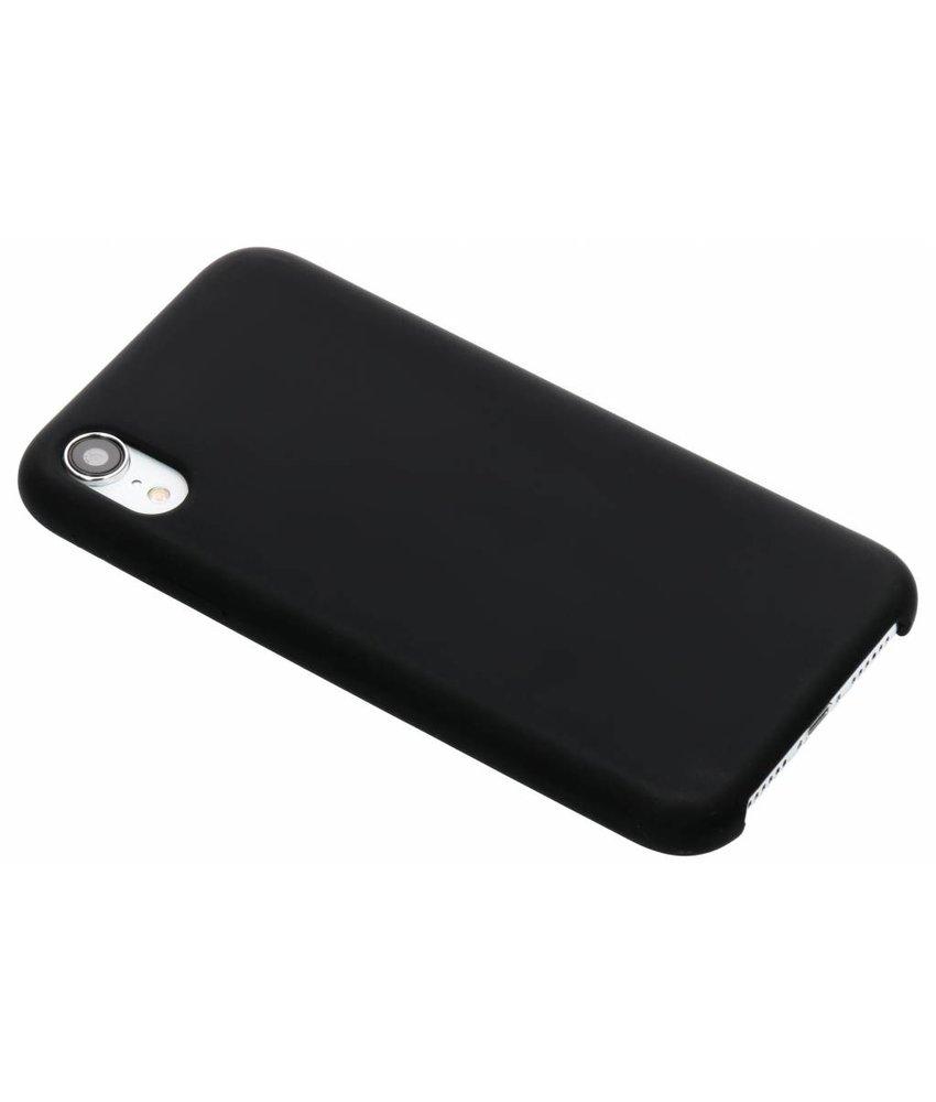 Zwart soft touch siliconen case iPhone Xr