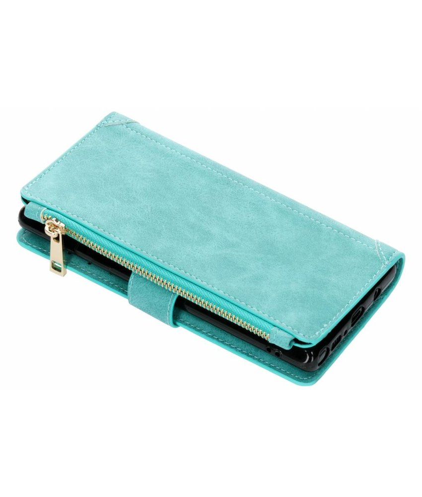 Turquoise luxe portemonnee hoes Samsung Galaxy Note 9