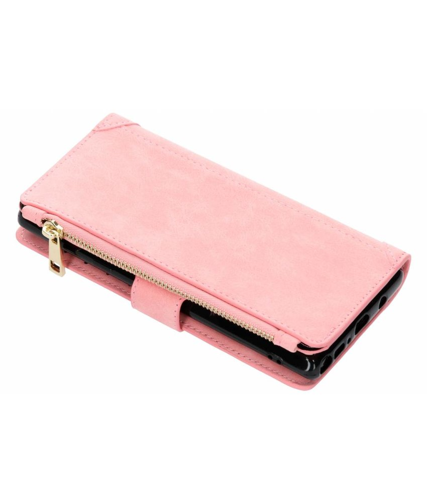 Roze luxe portemonnee hoes Samsung Galaxy Note 9