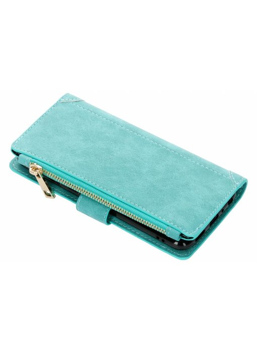 Turquoise luxe portemonnee hoes Huawei P Smart
