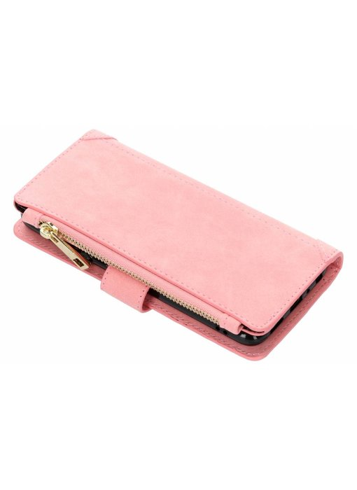 Roze luxe portemonnee hoes Huawei P Smart