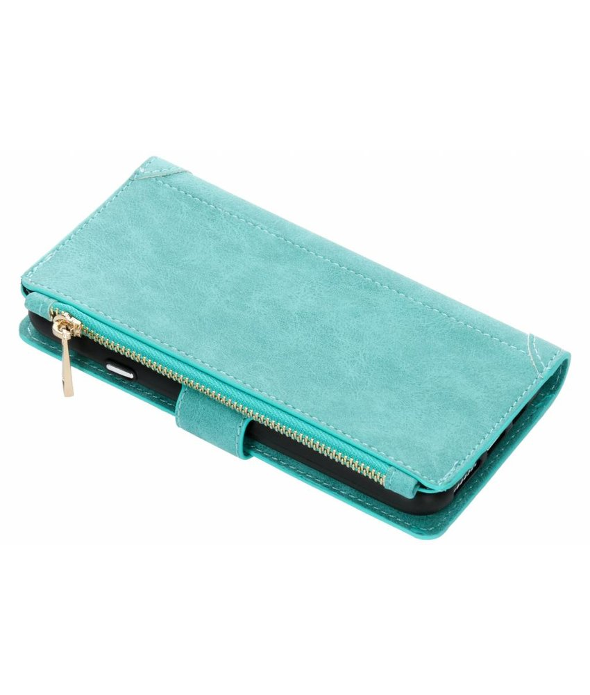 Turquoise luxe portemonnee hoes iPhone Xs Max