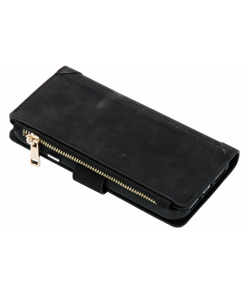 Zwart luxe portemonnee hoes iPhone Xr