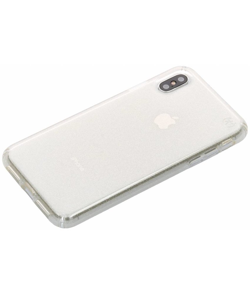 Speck Presidio Clear + Glitter Backcover iPhone Xs Max