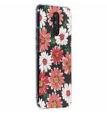 Huawei Mate 20 Lite hoesje - Gekleurde bloemen design siliconen