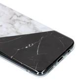 Geblokt marmer design siliconen hoesje voor de Huawei Mate 20 Lite