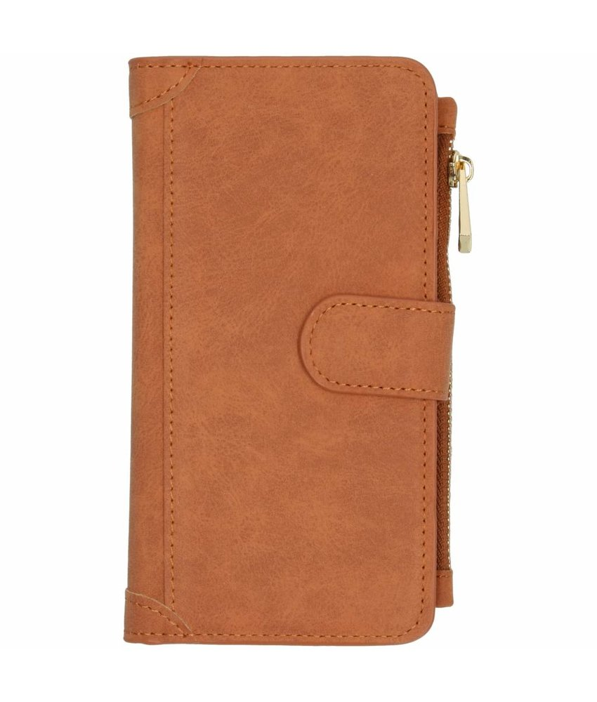 Bruin luxe portemonnee hoes Samsung Galaxy J6