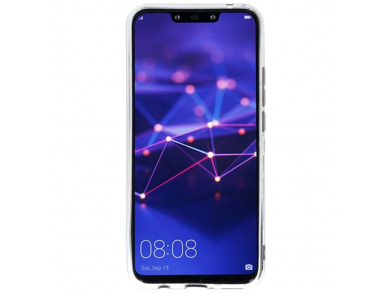 Huawei Mate 20 Lite hoesje - Blauw marmer design siliconen