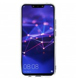 Huawei Mate 20 Lite hoesje - Geblokt marmer design siliconen