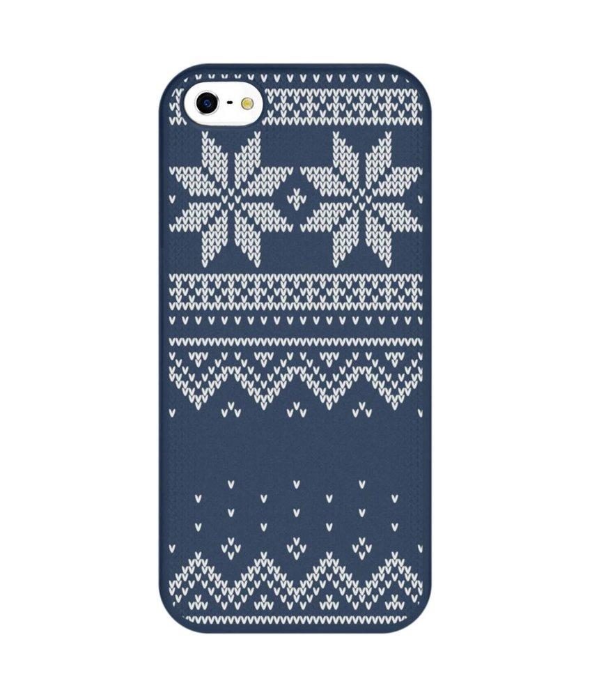 Winter design siliconen hoesje iPhone 5 / 5s / SE