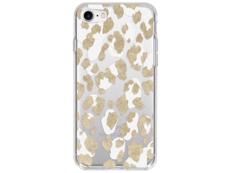 Design Backcover voor iPhone 8 / 7 - Panter Goud