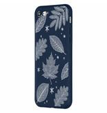 Design Backcover Color voor iPhone 8 / 7 - Sneeuw met Bladeren