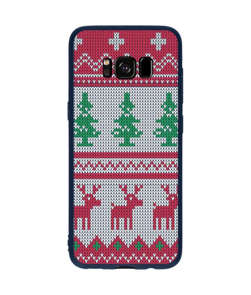 Winter design siliconen hoesje Samsung Galaxy S8
