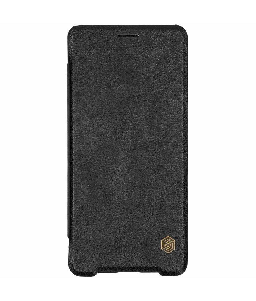 Nillkin Zwart Qin Leather slim booktype Sony Xperia XZ3