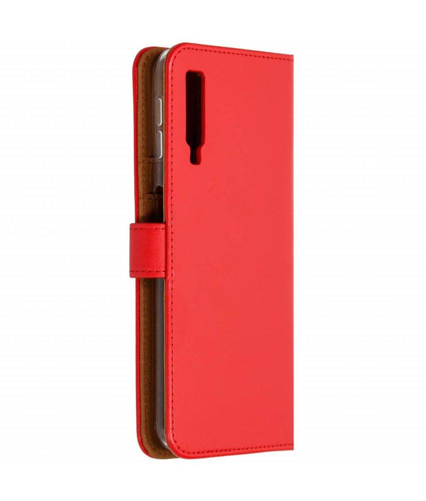Selencia Rood Luxe TPU Book Case Samsung Galaxy A7 (2018)