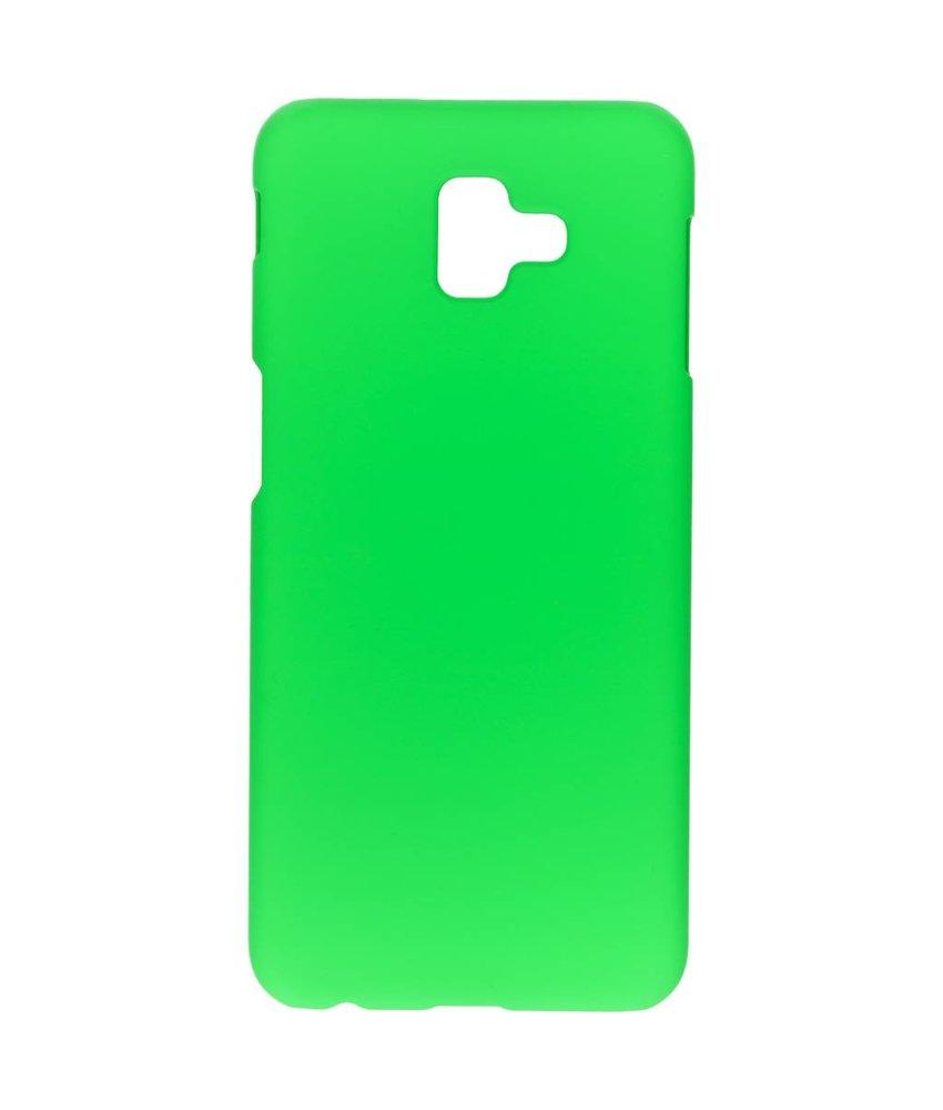 Groen effen hardcase hoesje Samsung Galaxy J6 Plus