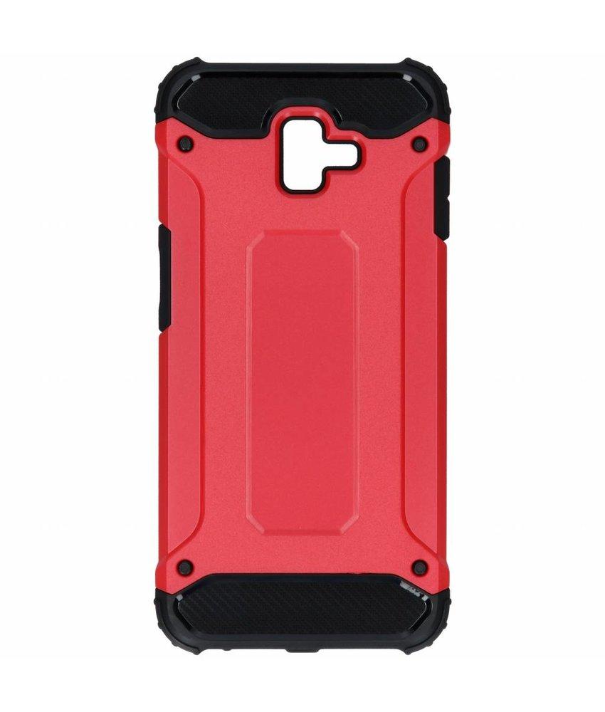 Rood Rugged Xtreme Case Samsung Galaxy J6 Plus