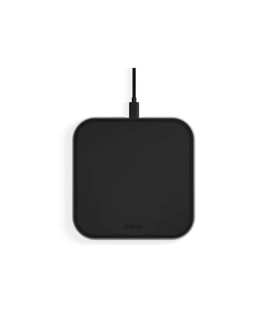 Zens Single Aluminium Wireless Charger 10W - Zwart