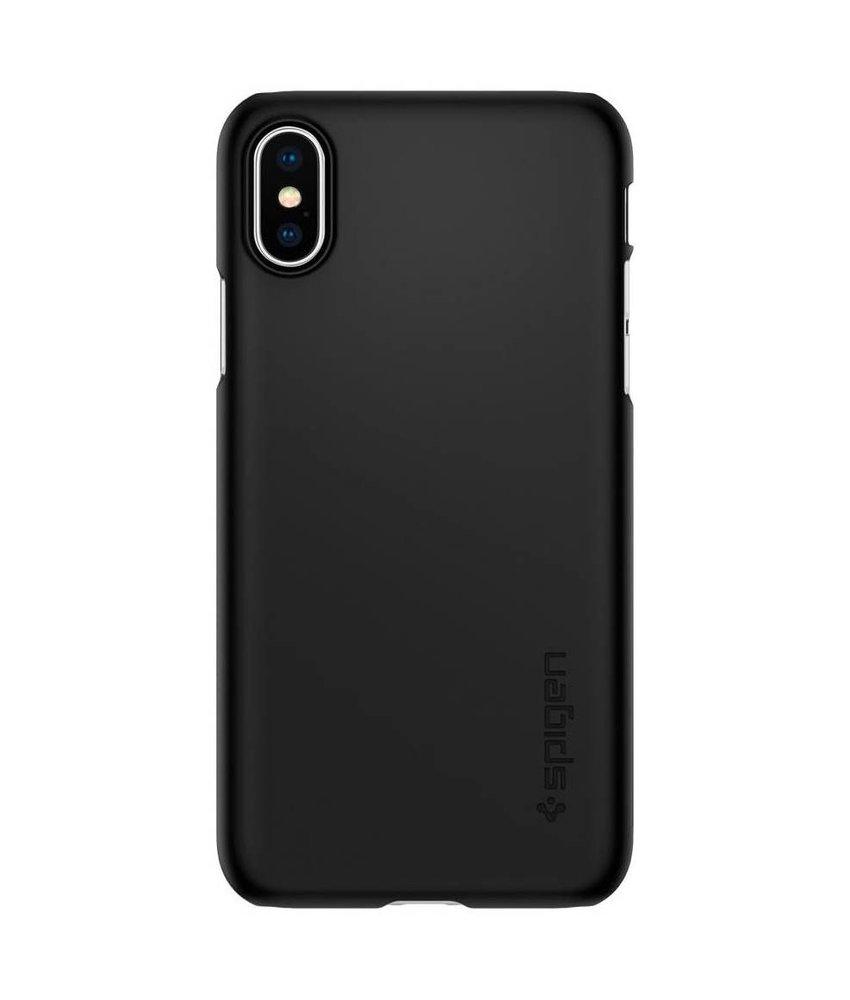 Spigen Zwart Thin Fit™ Hardcase iPhone Xs / X